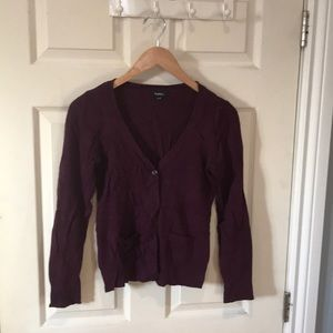Dark Purple Cardigan with Cute pocket detailing